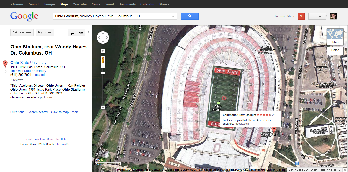 The Ohio State Google Maps is Pretty Awesome | LobShots