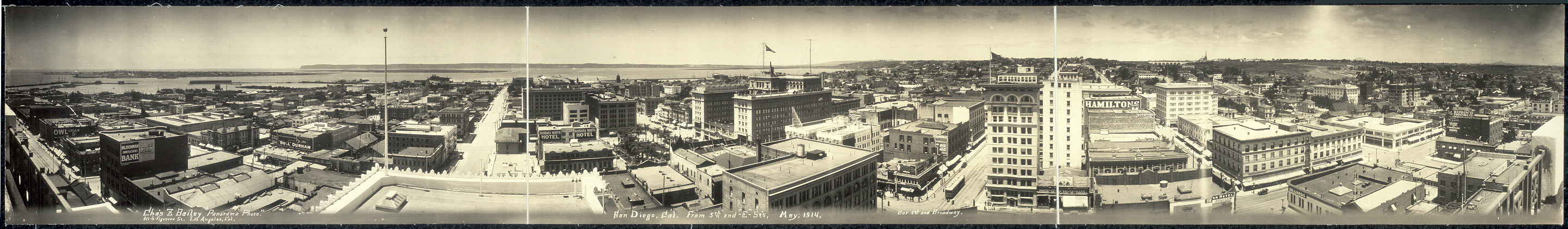 panorama of san diego 1914 loc