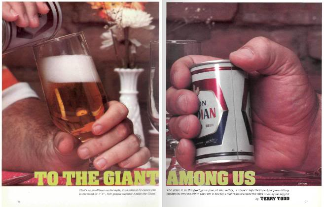 Andre The Giant Beer Drinking
